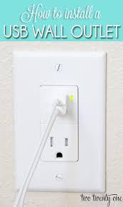 a usb wall receptacle