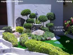 Small Picture like the use of different hues of green the shaped plants and use