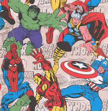 Marvel Superheroes Multi Wallpaper By Kids At Home For The Home