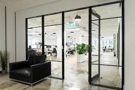office aluminium glass door