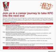 Kfc Job Application Free Resumes Tips