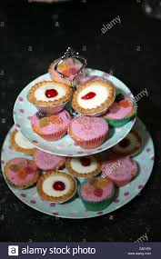 Cake Stand Of Fancy Cakes Stock Photo 39403453 Alamy
