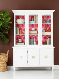 how to wallpaper furniture. China Cabinet Makeover How To Wallpaper Furniture K