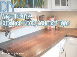 simplymaggie com diy wide plank butcher block counter tops