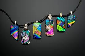 dichroic glass jewelry visarts
