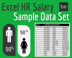 Excel Human Resources Salary Sample Data Set