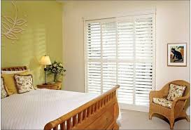 horizontal blinds window treatments for bedroom sliding glass doors