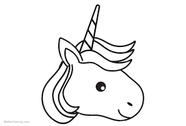 Unicorn Head Coloring Pages Free Printable Coloring Pages