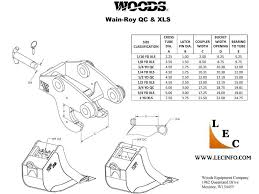 Excavator Bucket Pin Size Chart Wain Roy Xls Coupler Systems Up To 16000lb 1 4 Yd Backhoe