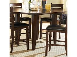 Ameillia Round Counter Height Four Drop Leaf Table By Homelegance At Lindys Furniture Company