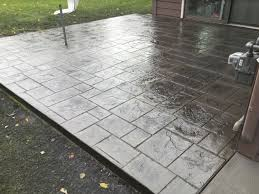 stamped concrete installation