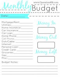 017 Printable Simple Monthly Budget Template Ideas Beautiful