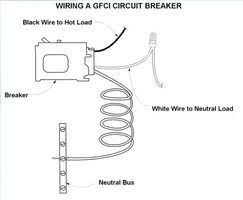 wiring diagram for a gfci circuit wiring image how to wire a gfci circuit breaker ehow on wiring diagram for a gfci circuit