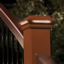 Trex Deck Post Cap Lighting Trex Fits Common Post Measurement 4 In X 4 In Actual