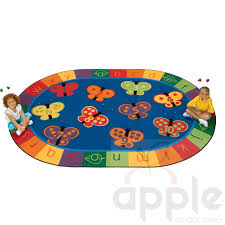 123 abc erfly fun oval rug by carpets for kids