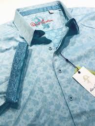 Robert Graham Size Chart Robert Graham Xl Shirt Mens Maya Bay Turquoise Geometric