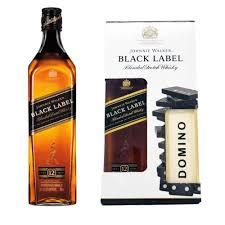 johnnie walker black label domino gift set
