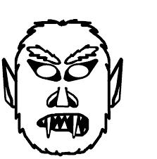 Maschera Di Un Mostro Di Halloween Da Stampare Colorare Ritagliare