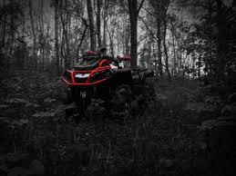 Black and red ATV, quad, Outlander, can ...