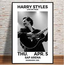 Canvas Painting Harry Styles Tour Music ...