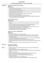 Sample Professor Resume Associate Professor Resume Samples Velvet Jobs