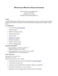 resume for maintenance laveyla com maintenance mechanic resume getessay biz
