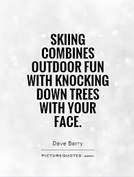 Skiing Quotes Best Skiing Combines Outdoor Fun With Knocking Down Trees With Your Face