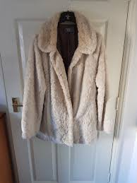 lovely faux fur jacket coat very warm size 14 from wallis i