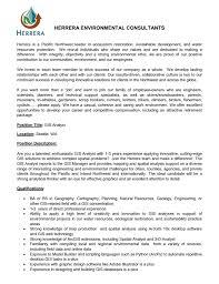 Gis Analyst Job Opportunity Gis Analyst For Herrera Environmental Consultants