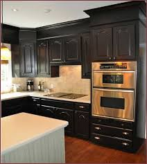 Full Size Of Furniture Double Modern Oven Kitchen Decor With Black Cabinets  Colors Also Contermporary Corner ... Awesome Ideas