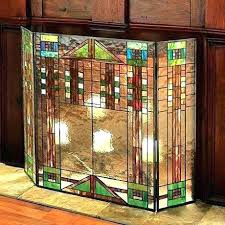 stained glass fireplace screen place s decorative fire screens uk