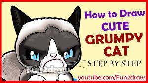 easy grumpy cat drawing. Unique Easy In Easy Grumpy Cat Drawing T