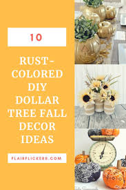 10 rust colored diy dollar tree fall decor ideas
