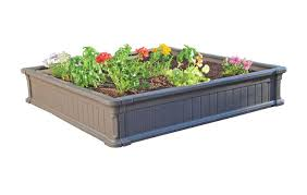 garden beds. amazon.com : lifetime 60069 raised garden bed kit, 4 by feet, pack of 3 border edging \u0026 outdoor beds