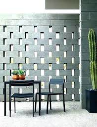 breeze block wall cinder block walls