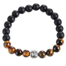Купить Оптом 8mm <b>Lava</b> Stone Bracelet Men Strand Flower ...