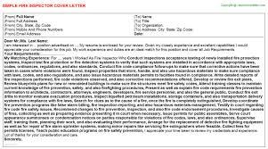 Fire Inspector Cover Letter Rome Fontanacountryinn Com