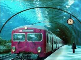 real underwater train. Picture About Underwater Train In Venice Real H