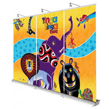 3 Panel Display Stand Impressive 32 Panel Linked Pull Up Banner Display Stand