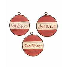 metal framed red white round ornaments