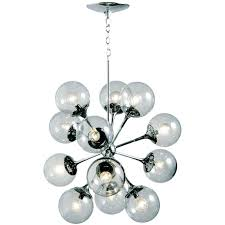 vintage chrome sputnik chandelier at atom light fixture