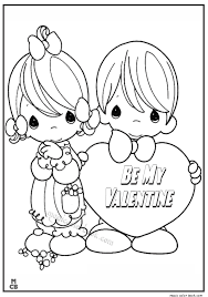 Small Picture Valentine Day Coloring Pages