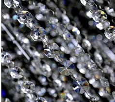 20 meters lot 14m hot silvery ring crystal garland chain glass garland chains chandelier lamp octagon chain weeding decor in figurines miniatures