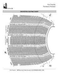 fox theatre seating chart printable pdf