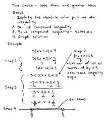 solve absolute value inequalities solving equations worksheet