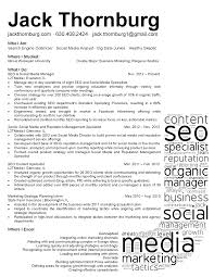 Social Media Manager Resume Resumes Examples Cv Template