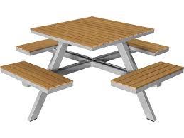 source outdoor furniture vienna. Source Outdoor Furniture Vienna Aluminum 69 Square Picnic Table - Seats 4 U