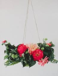 lush and pretty diy silk flower chandelier to make weddingomania weddbook