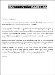 Letter Of Recomendation Example Example Of Letters Recommendation For Student 3 Reinadela Selva