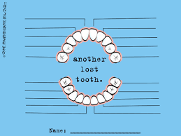Tooth Chart For Losing Teeth Another Lost Tooth Tooth Fairy Tooth Chart Free